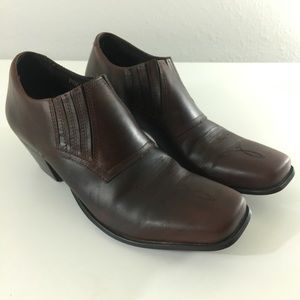 Durango Brown Western Leather Square Toe Boot